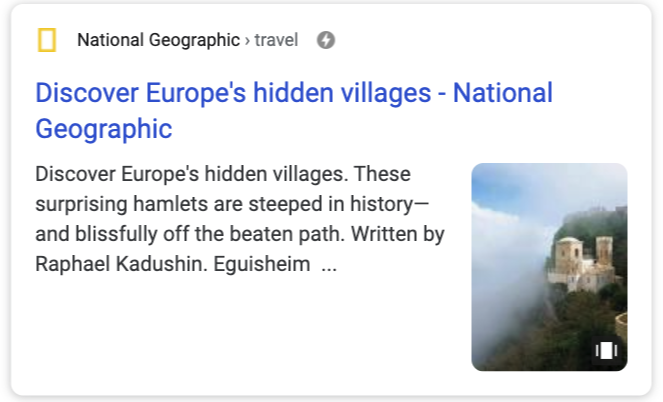 Google web stories example
